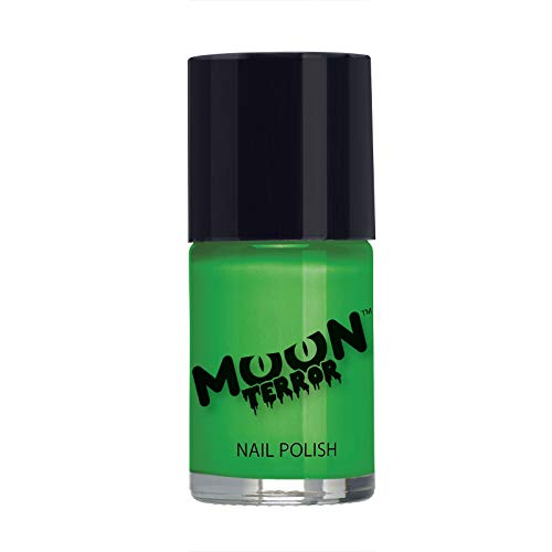 Moon Terror Halloween Nail Polish, Green, Single 14ml -