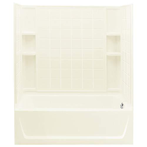 STERLING 71120128-96 Ensemble AFD Bath Tub and Shower Kit, 60-Inch x 32-Inch x 76-Inch, - Afd Bathtub