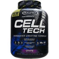 MuscleTech Cell-Tech Hardgainer Creatine Formula - Grape - 6 lbs