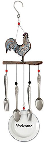 Sunset Vista Designs 92153 Farmhouse Wind Chime, 28-Inch, Rooster ()
