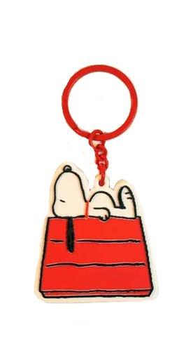 MANI Snoopy retro casa del perro llavero troquelada