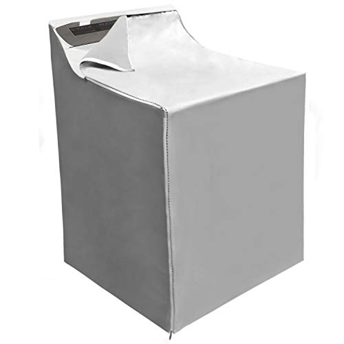 Covolo Washing machine Cover, Suit for outdoor top-load and front load machine,Waterproof Dustproof Windproof Moderately Sunscreen Silver Coated (W29D28H40in)