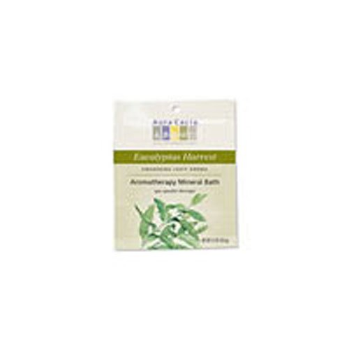 Aura Cacia Aromatherapy Mineral Bath, Clearing Eucalyptus, 2.5 ounce packet (Pack of - Ounce Bath 2.5
