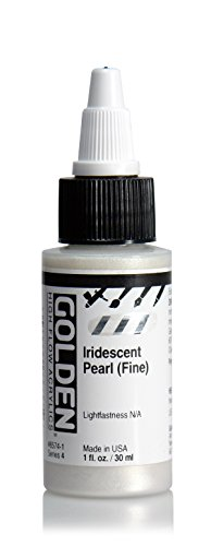 Iridescent Spray Paint (Golden High Flow Arcylic Paint, 1 Ounce, Iridescent Pearl Fine)
