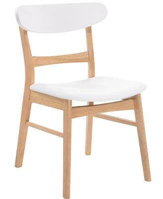 Amazon.com - Wood Dining Chair with Polyester Upholstery ...