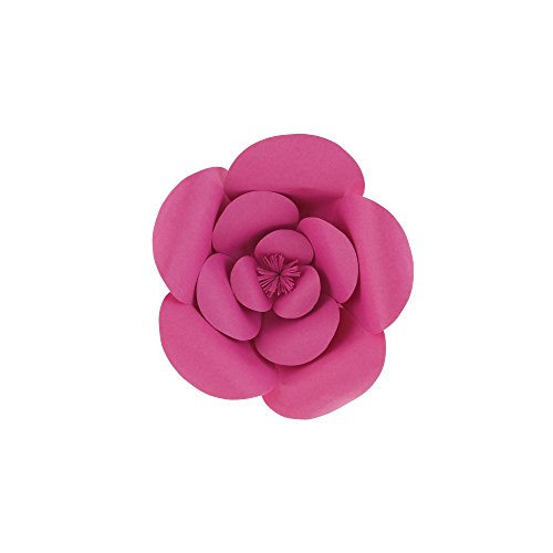 "Mega Crafts 8"" Handmade Paper Flower in Fuchsia 