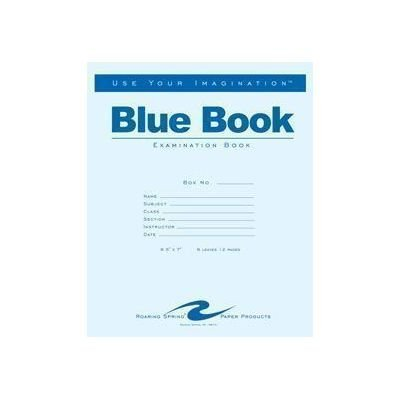 Roaring Spring Blue Exam Book, 8.5 x 7, 6 Sheets by Roaring Spring