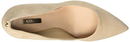 GUESS Bennie, Zapatos con Tacón de Piel de Piel Para Mujer Blanco  (Light Natural)
