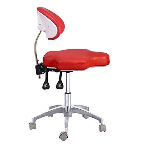 SoHome Portable Doctor's Stool Polygon Shape Dentist Chair Micro Fiber Leather Mobile Chair Height Adjustment by SoHome (Image #1)