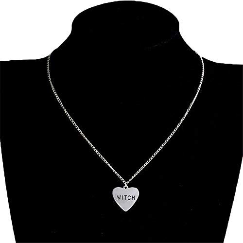 UltraSunday Halloween Wiccan Alloy Pendant Jewelry Heart-Shaped Witch Necklace Gift Unisex