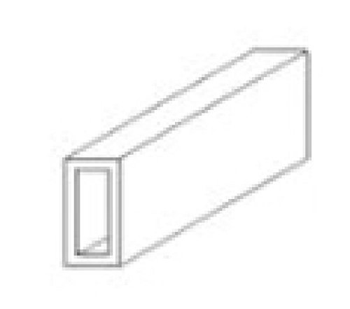Evergreen Styrene Rectangle Tube 4.8mm x 7.9mm (0.187x0.312) by Evergreen