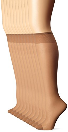 (L'eggs Everyday Knee Highs RT 10 Pair 39900,Suntan, OneSize)