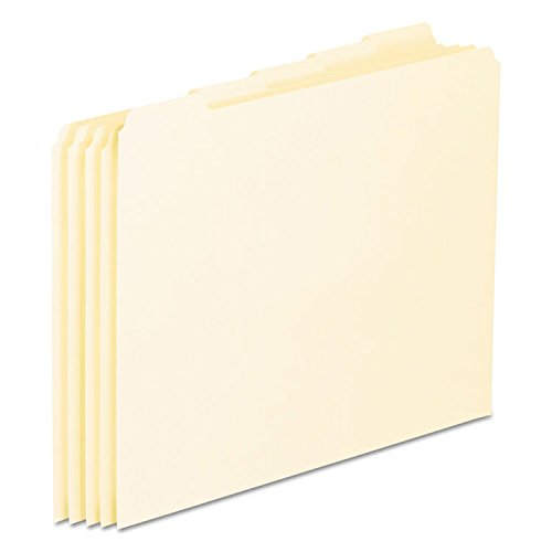 Pendaflex EN205 Top Tab File Guides, Blank, 1/5 Tab, 18 Point Manila, Letter, 100/Box
