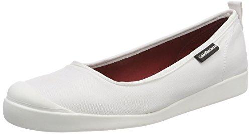 Calvin Klein Jeans Damer Libby Nylon Lukket Ballerinaer Hvid (wht 000) LkrT4Kb9