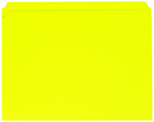 UPC 078973139102, Globe-Weis Colored File Folders, Straight Cut, Reinforced Tab, Letter Size, Yellow, 100-Count (22910)