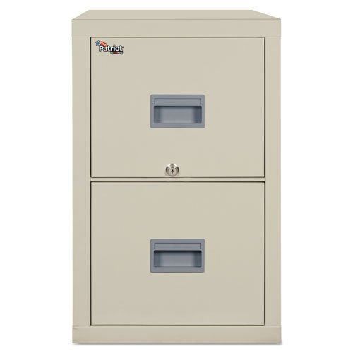 Fireking Patriot Insulated 2-Drawer Fire File, 17-3/4w x 25d x 27-3/4h, Parchment - BMC-FIR 2P1825CPA