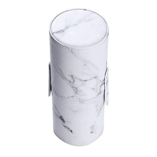 Marble Makeup Brush Holder PU Leather Travelling Portable Cosmetics Makeup Cup Storage Organizer Case Marble by Path Beauty (Image #2)