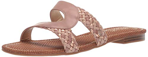 Circus by Sam Edelman Women's Betty Flat Sandal, Cameo Pink Rustic Waxed/Waxy/New Metal Grain, 7.5 M US ()
