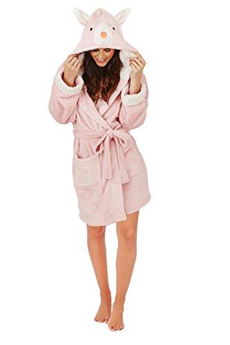 Pink Vestaglia Rabbit lunghe Maniche Loungeable Boutique donna 4q7XX8