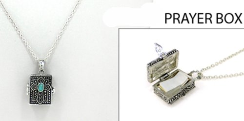 4031468 Prayer Locket Necklace Cross Christian Religous Keepsake (Cross Prayer Locket)