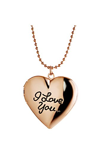 Letter I Love YOU Friend Picture Photo Frame Living Memory Pocket Watch Heart Locket Necklace for Women
