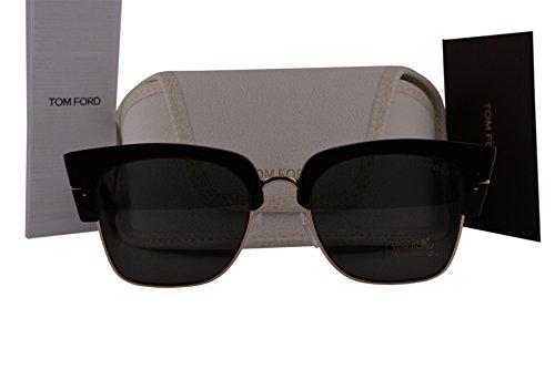 Tom Ford FT0552 Savannah-02 Sunglasses Shiny Black w/Blue Gradient Lens 01W TF552 by Tom Ford