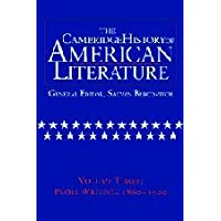 The Cambridge History of American Literature: Volume 3, Prose writing, 1860–1920