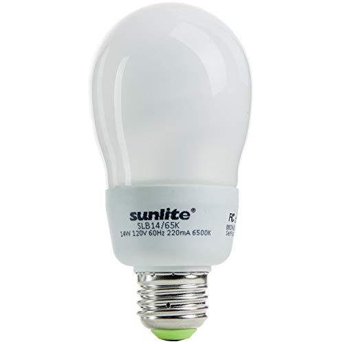 Sunlite SLB14/65K 14 Watt A Type SLB Energy Saving CFL Light Bulb Medium Base Daylight