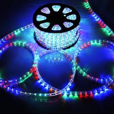 DELight Outdoor Lighting LED Rope Light 150ft Multi Color RGB w/ Connector by CMA Stockroom