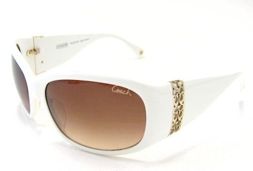 e686bb5ae522 Image Unavailable. Image not available for. Colour: COACH Jacqueline S828  Sunglasses S-828 White Frame