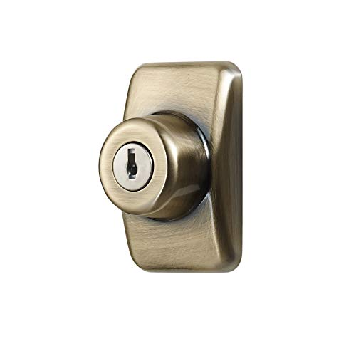 Ideal Security Inc. SKGLKAB GL Keyed Deadbolt for Storm and Screen Doors Easy to Install, Antique Brass