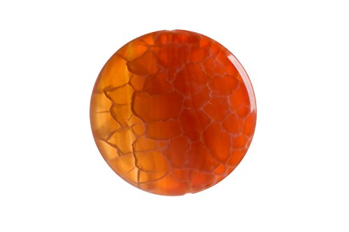Fire Red Agate Round Pendant 35mm