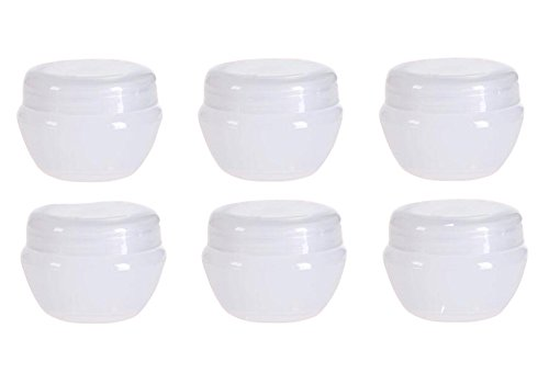 10G 10Gram 10ML Durable Refillable Travel Cosmetic Sample Containers Plastic Pot Jars Make up Face Cream Lip Balm Storage Containers Bottles with Internal Leak Proof Lid Transparent (6 Pcs)