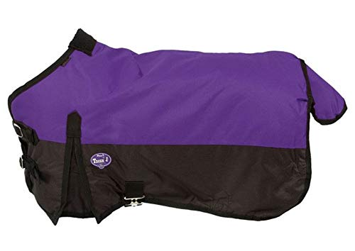 Tough 1 600D Waterproof Poly Miniature Turnout Blanket, Purple, 42