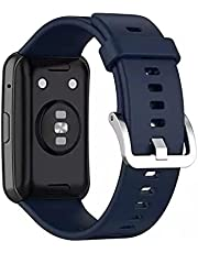 Replacement silicone strap for Huawei watch fit 2020 - dark blue