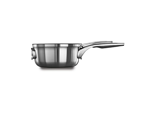 Calphalon Premier Space Saving Stainless Steel 2.5qt Sauce Pan with Cover