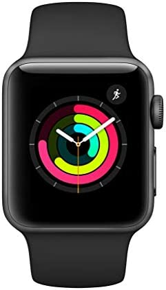 Apple Watch Series 3 (GPS, 38mm) - Space Gray Aluminium Case with Black Sport Band