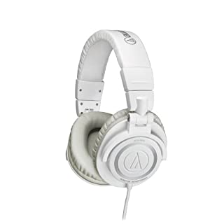Audio-Technica ATH-M50WH Professional Studio Monitor Headphones with Coiled Cable, White (B007GC4L7S) | Amazon price tracker / tracking, Amazon price history charts, Amazon price watches, Amazon price drop alerts