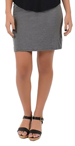 Stretch is Comfort Women's Plus Size Mini Skirt Charcoal Gray X-Large (Short Gray Skirt)