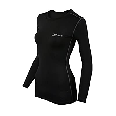 COOVY ATHLETE Women's Sports Under Base Layer Long Sleeve Top, Style W04