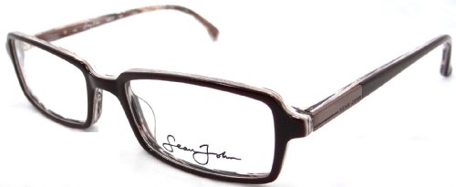 Brand New Authentic Sean John Rx Eyeglasses Frames Sj2012 209 52x18 Brown - Eyeglasses Authentic Frames