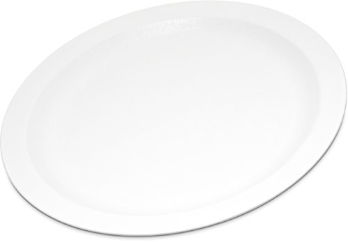 "Carlisle PCD21002 Long-Life Polycarbonate Dinner Plates, 10"", White (Pack of 48)"