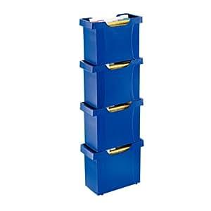 Leitz 19931095 - Caja para carpetas colgantes (con 8 carpetas A4, 370 x 162 x 260 mm), color azul