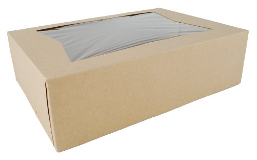 Southern Champion Tray 24263K Kraft Paperboard Window Bakery Box, 14