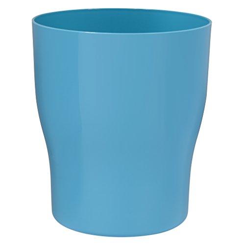 Creative Bath Products Gem Plastic Waste Basket, Turquoise ()