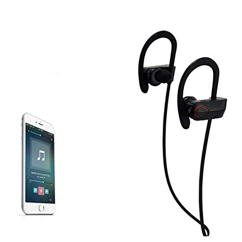 JTD Professional Wireless Bluetooth Headphones IPX6 Waterproof Sweat Proof Noise Cancelling Light-Weight Headphones Bluetooth Earbuds Headset Earphones for Sports, Designed to Stay in ()