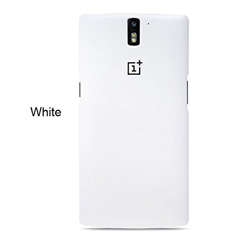 Ebestsale Oneplus? Original Brand Ultra Thin Slim Premium Frosted PC Back Cover Case for OnePlus One 1+ One+ A0001,Retail Package,White