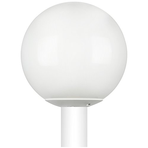White Globe Outdoor Post Light in Florida - 4