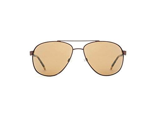 Reptile Sun Gladiator Sunglasses, Matte Espresso Frame, Espresso/Poly Lens, - Sunglasses Gladiator