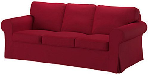 Good Life Home Ektorp 3 Seat Sofa Cover Replacement is Custom Made Slipcover Compatible for IKEA Ektorp Sofa Cover (Wine Red)